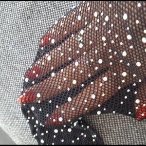 Other - Rhinestone Fishnet stockings.
